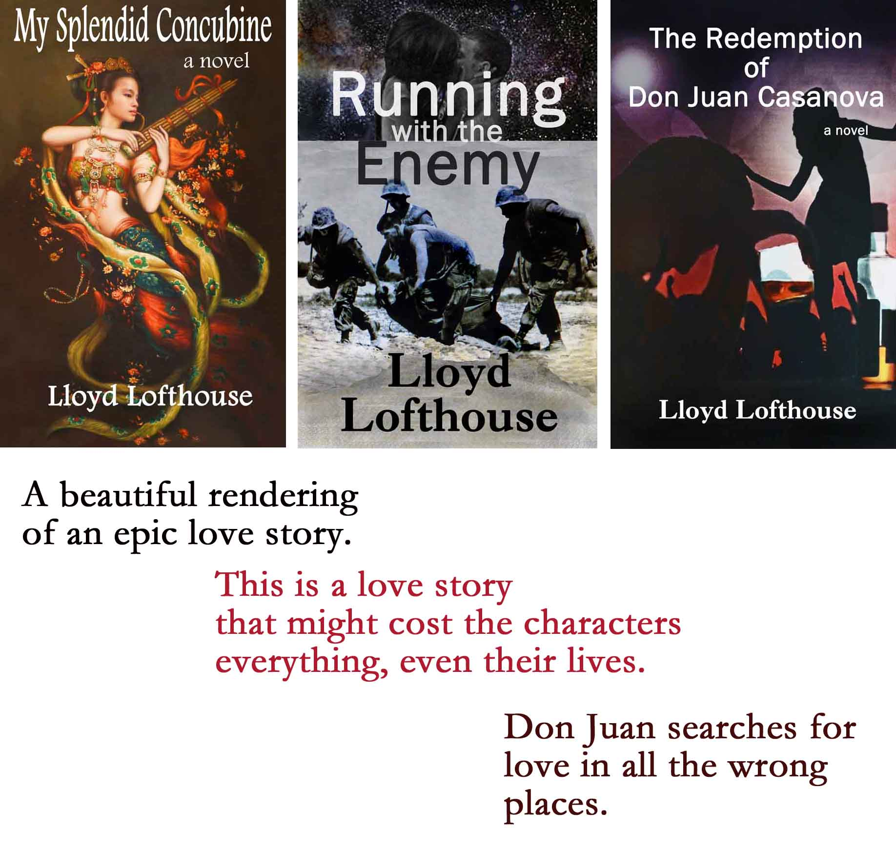 Covers for first 3 novels