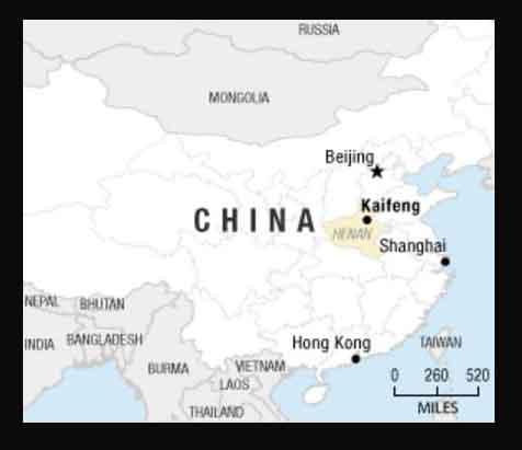 Kaifeng China | iLook China on chengdu china on world map, guangzhou china on world map, shenzhen china on world map, macau china on world map, hangzhou china on world map, tangshan china on world map, shanghai china on world map, nanjing china on world map,