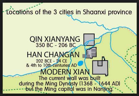 The three cities of Xian