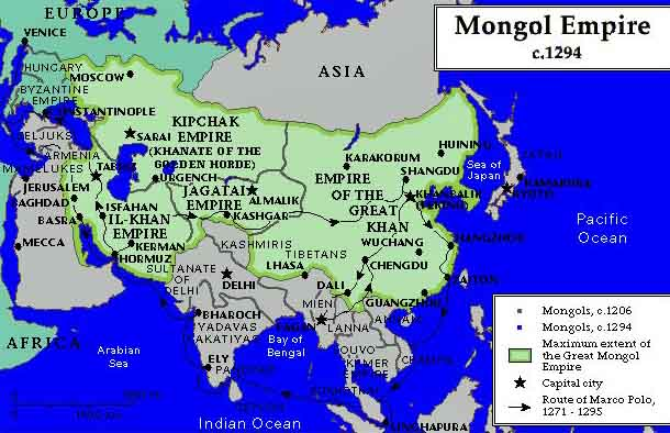 the history of eurasia and the mongol empire in the 13th century as detailed by william of rubruck a This account, the mongqol-un niucha tobcha'an, or the secret history of the mongols, was written by a member of the borjigin clan in the early 13th century - possibly by shigi qutuqu, an adopted son, in 1228 it is an epic story of chinggis khan's rise to power although it also contains some critical comments.